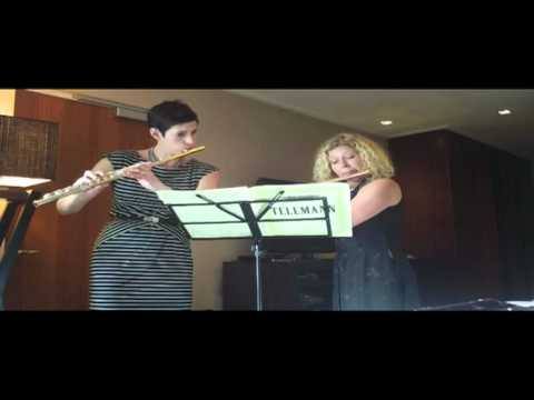 Nina Perlove and Jane Rutter sight reading Telemann Flute duets