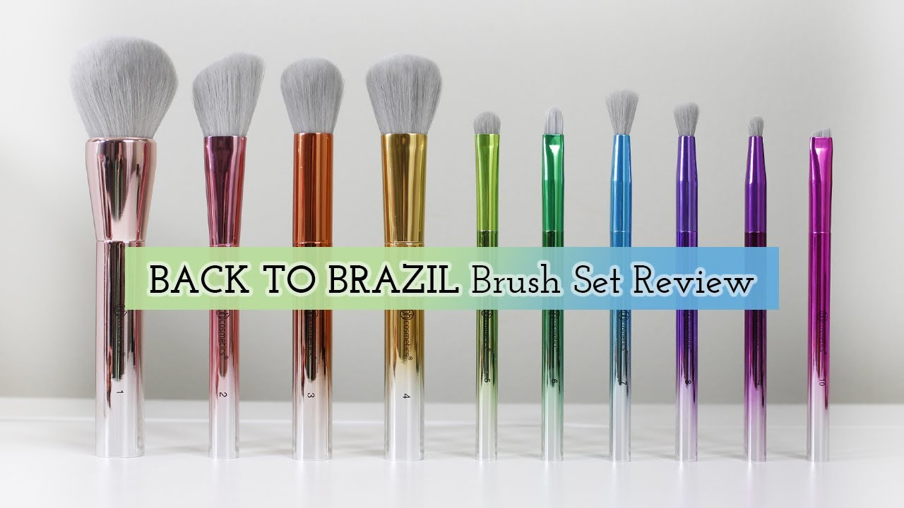 264b63fa606 BH COSMETICS TAKE ME BACK TO BRAZIL Brush Set Review - YouTube