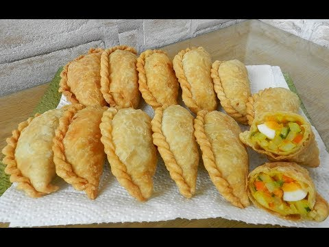 PASTEL - Fried Savory Pastry - Delicious!