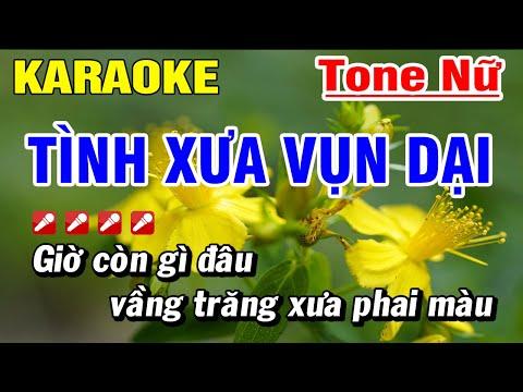 Karaoke Tình Xưa Vụn Dại Tone Nữ Nhạc Sống Mới Nhất  Hoài Phong Organ