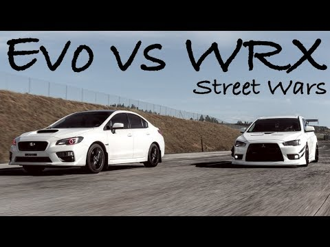 Insane WRX VS Evo Street Battle