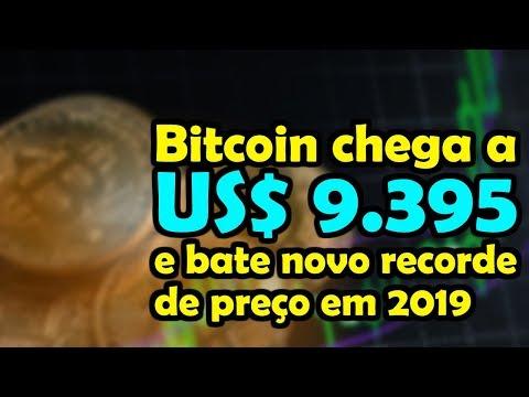 Bitcoin Chega a 9.395 Dólares e Bate Novo Recorde de Preço em 2019 - Entenda os Motivos