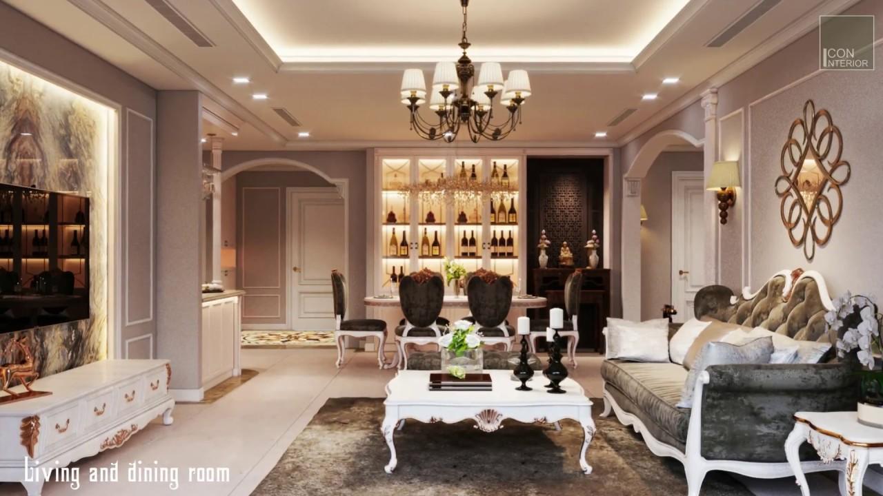 """Phong cách tân cổ điển đầy vẻ """"lịch lãm"""" trong căn hộ Vinhomes Central Park – Nội thất ICON"""