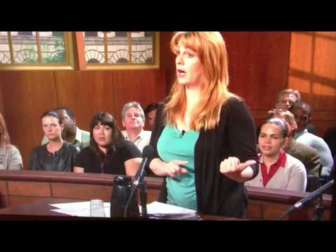Jim Harbaugh (SF 49ers coach) in the audience of Judge Judy