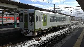 キハ110新ニツ 普通127D 新津→新発田 新津駅発車