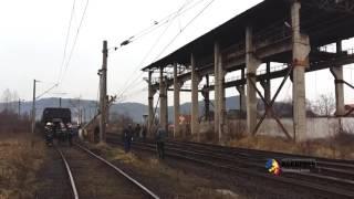 Un tren de marfă a deraiat lângă Deva