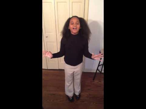 This little girl can sing! Happy Birthday (jenifer hudson version)