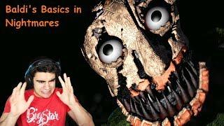NIGHTMARE BALDI IS TRYING TO TRICK ME!!! - Baldi's Basics in Nightmares (Demo Ending)