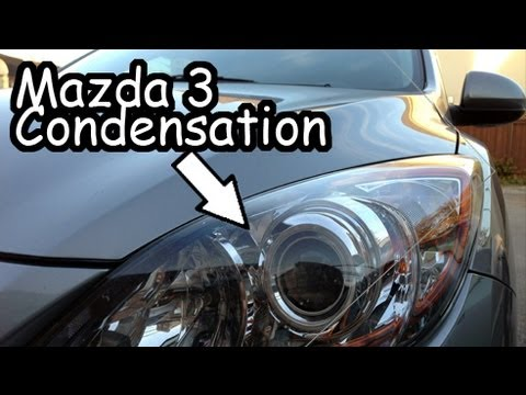 How to clean inside of headlights mazda 3