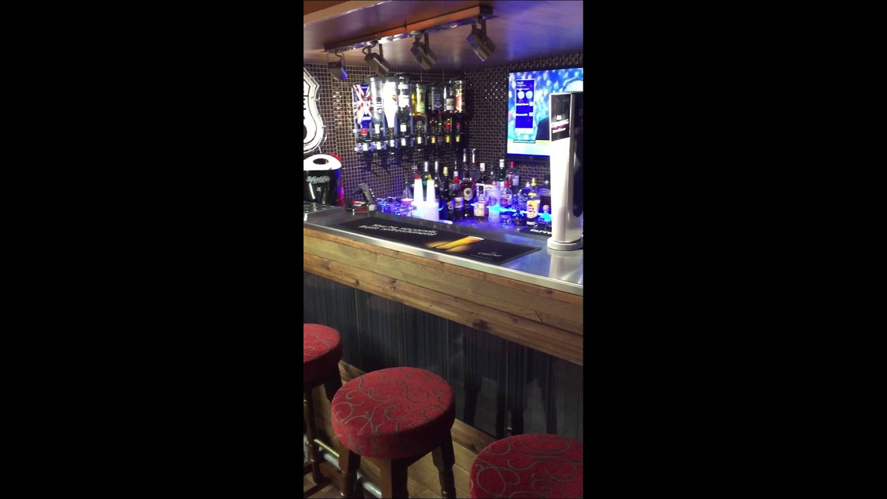 Pub shed / bar shed / home bar / man cave - YouTube