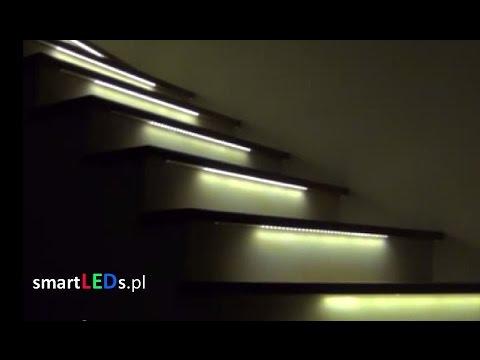 Blog Automatyka Domowa Podświetlenie Schodów Taśmą Led
