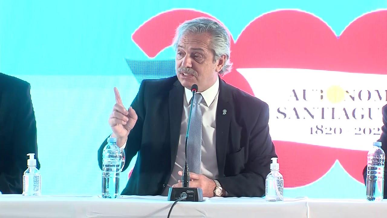 2020 05 21 DISCURSO DE ALBERTO FERNANDEZ EN SANTIAGO DEL ESTERO