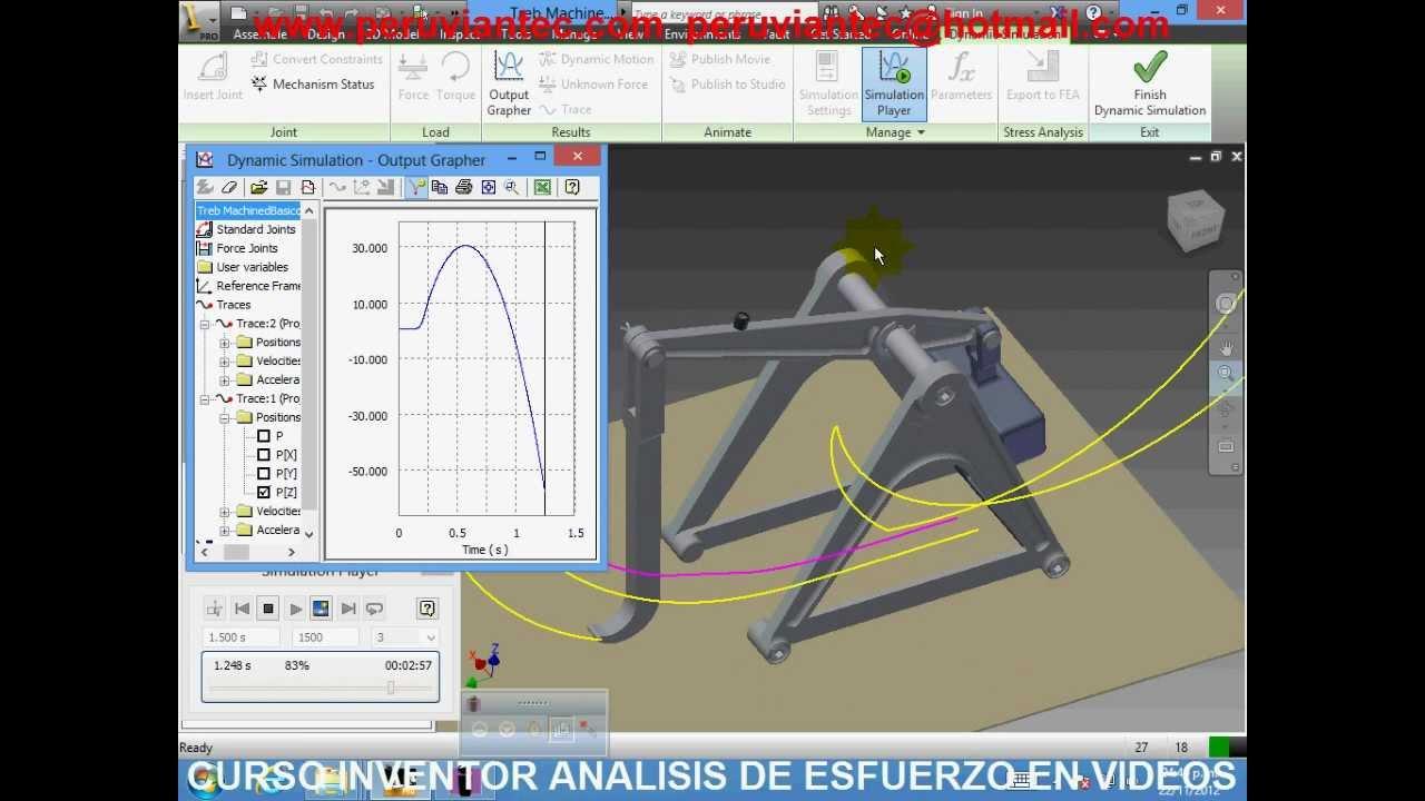 curso inventor 2013 analisis de esfuerzos y simulaciones dinamicas rh youtube com