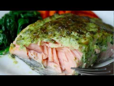Broiled Herb-Crust Salmon Recipe - Easy Broiled Fish Technique