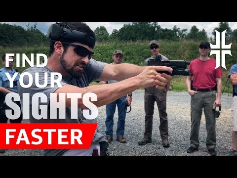 Shooting Tip: Find your Pistol Sights FASTER