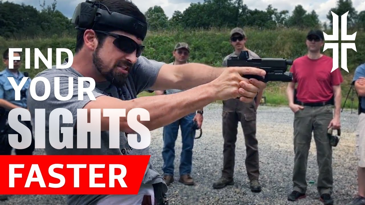286466065f Shooting Tip  Find your Pistol Sights FASTER - YouTube
