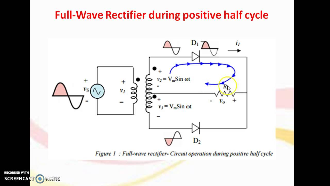 Center Tap Full Wave Rectifier Youtube Circuit