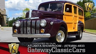 1942 Ford Station Wagon - Gateway Classic Cars of Atlanta - Stock #890-ATL