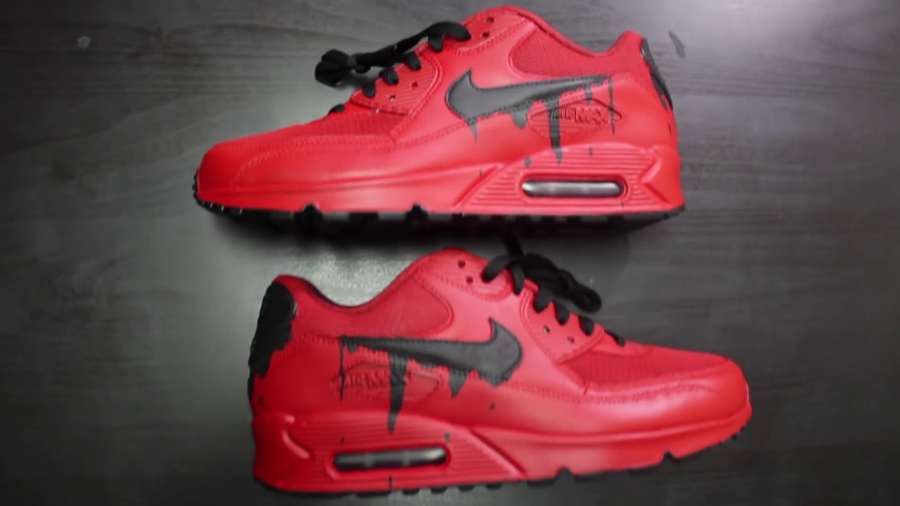 new product 588a7 6a2fd ... low price custom nike air max 90 candy red drip time lapse 90aa3 7f205