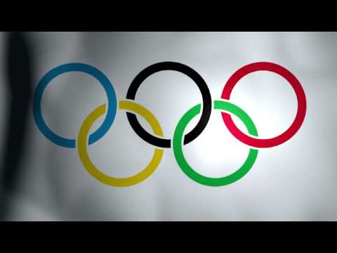 Olympic Flag with Theme Music