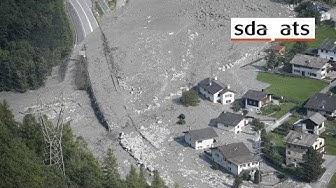 Neue Schlammlawine geht in Bondo nieder - Bergsturz - Bergell - Graubünden
