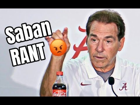 Nick Saban Rant On Playing Weak Opponents And Students Leaving Early