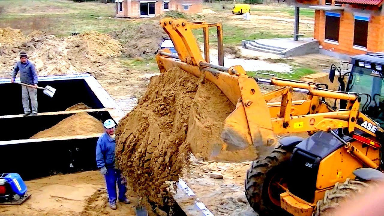Building A House building a house stepstep. full hd. day 14 foundation concrete