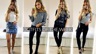 OUTFITS OF THE WEEK 2017 / SPRING OUTFIT IDEAS! LOOKBOOK