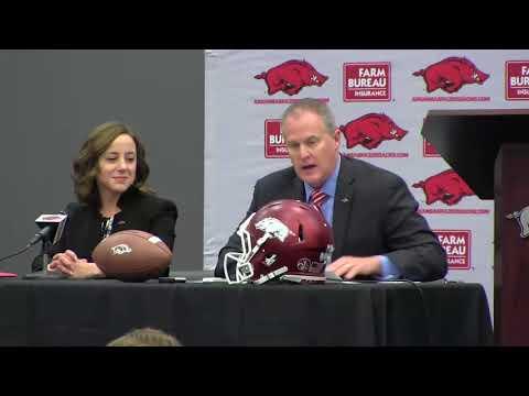 Chad Morris introduced at Arkansas