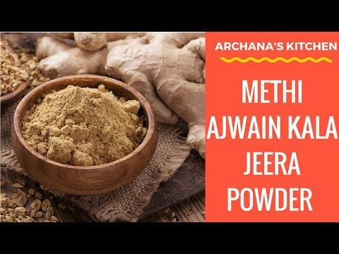 Methi Ajwain Kala Jeera Powder - Healthy Recipes by Archana's Kitchen