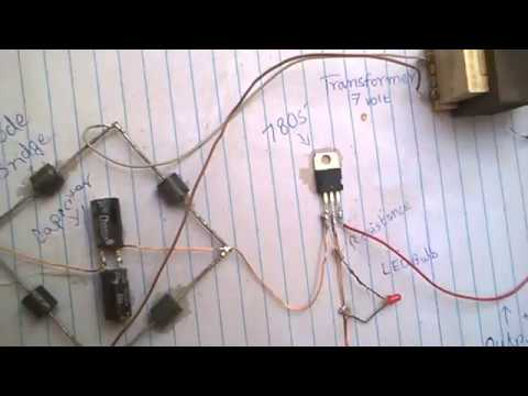 5 volt power supply with 7805 ic