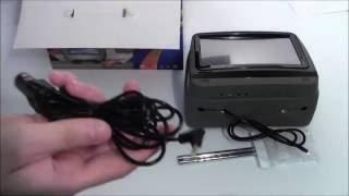 Обзор подголовника с монитором и DVD AVS0945T