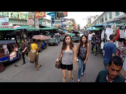People watching on Khao San Rd.Bangkok daytime VLOG 020