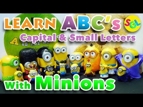 Learn ABCs with Minions: Uppercase & Lowercase | Alphabet Capital & Small Letters | Despicable Me