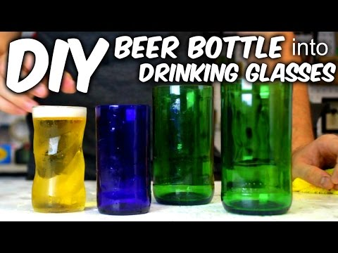 How to cut a glass bottle in half with fire and string doovi for How to cut glass with string and fire