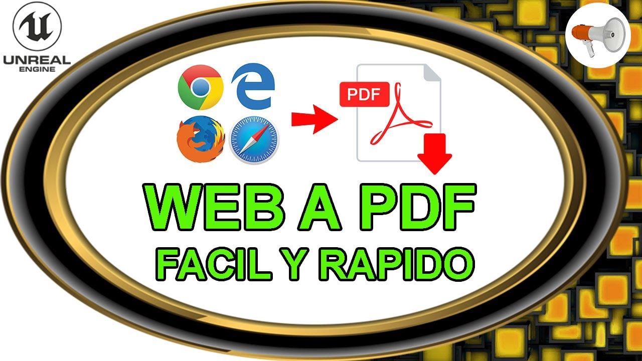 📢 TECH # 9: Como guardar o convertir pagina web a PDF gratis y facil - tutorial español.
