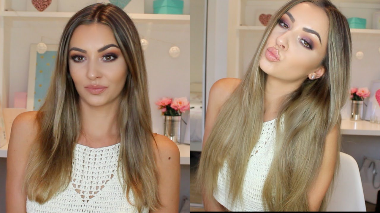 How To Clip In Hair Extensions Irresistible Me Review Youtube