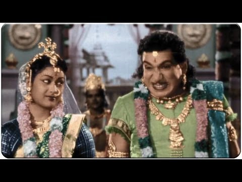 Relangi Afraid of Savitri Behaviour at Marriage Hilarious Comedy Scene || Mayabazar Movie