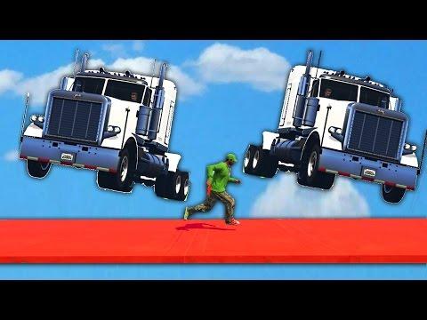 DODGE THE FLYING TRUCKS! (GTA 5 Funny Moments)