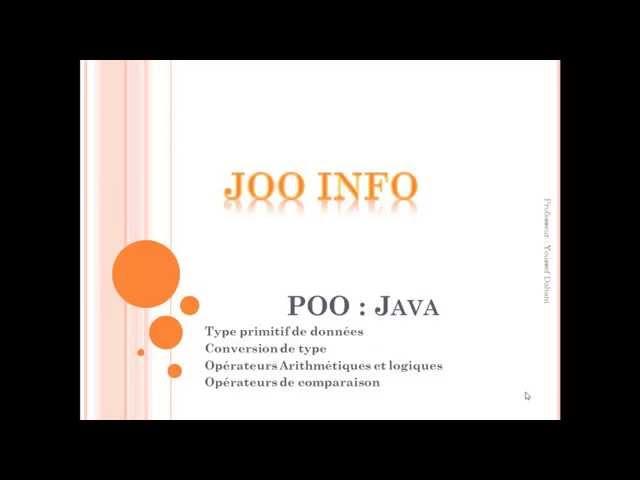 Java : Types primitifs de données