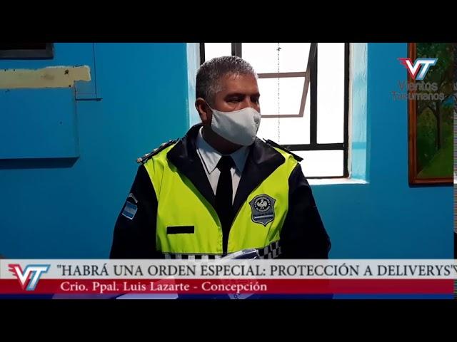 """Concepción: Habrá una orden especial denominada """"protección a deliverys"""""""