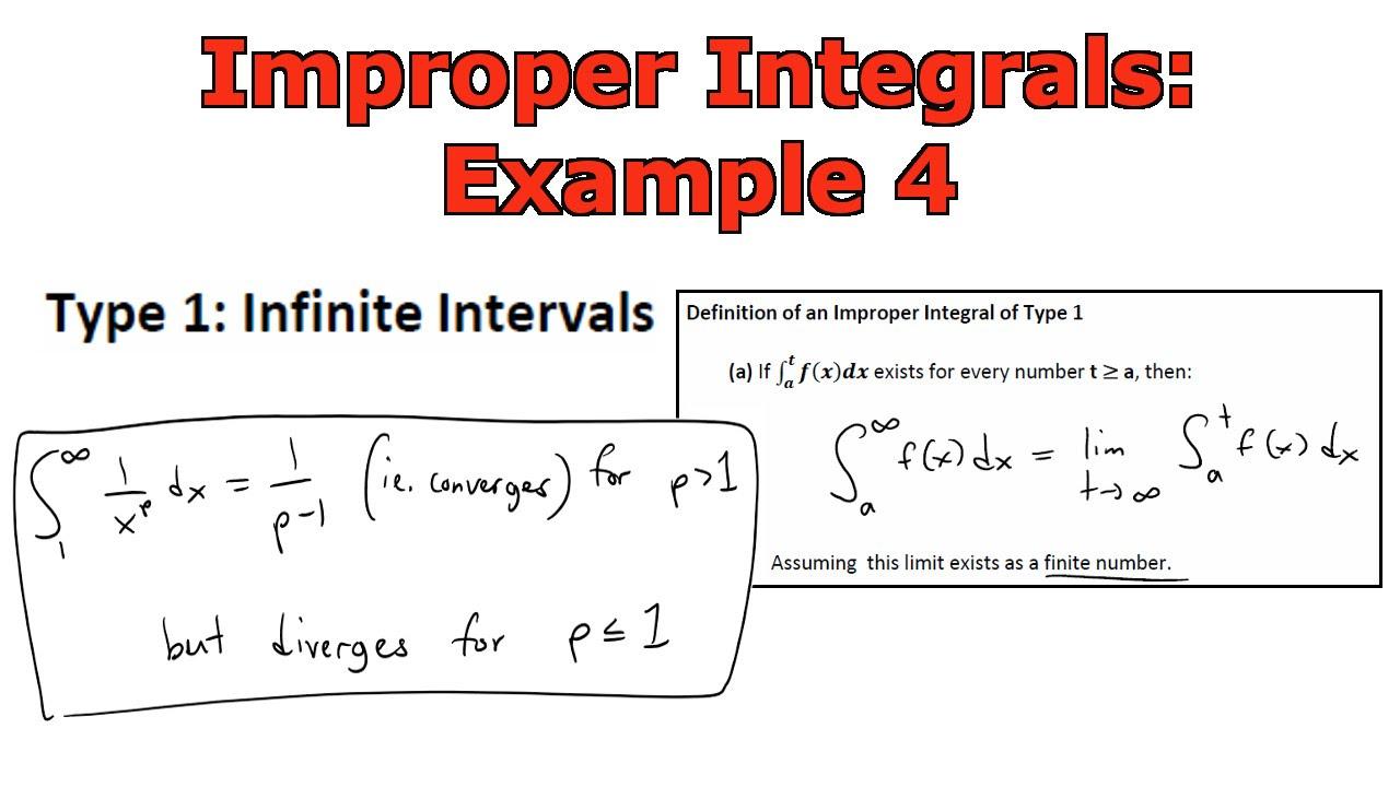 Improper Integrals Example 4: 1/x^p - YouTube