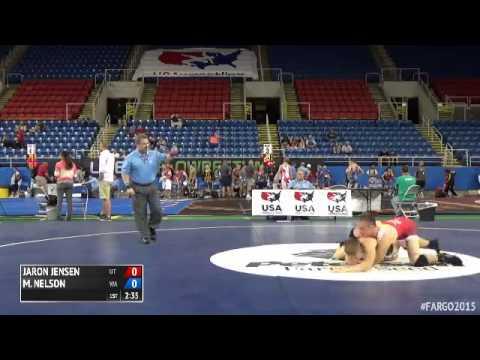 145 Champ. Round 3 - Max-Henry Nelson (Washington) vs. Jaron Jensen (Utah)