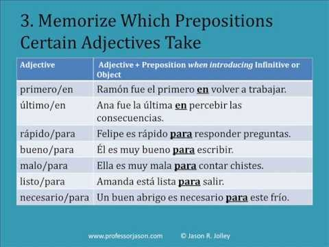 Overview of Spanish Prepositions: Challenges and Success Strategies