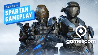 5 Minutes of Gears 5 Halo Spartan PC Gameplay in 4K - Gamescom 2019