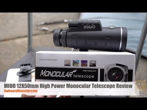 Miuo 12x50mm high power monocular telescope review youtube