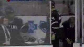 Steve Ott hits Jordan Leopold and then pounds Ruslan Salei 3/09/2008