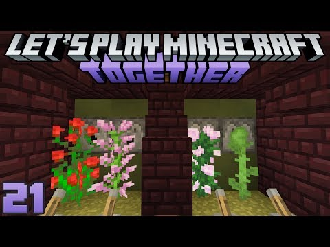 Let's Play Minecraft Together 21 New Group Project & Flower Farms