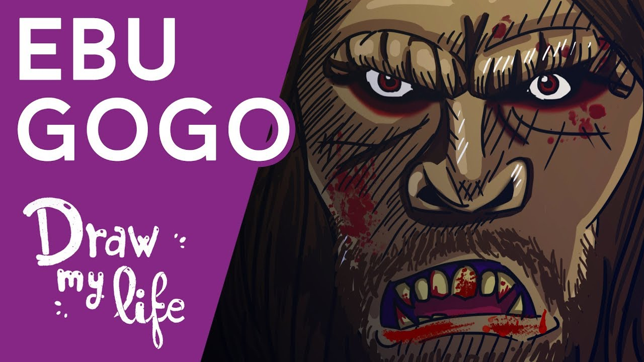 Los CANÍBALES de la JUNGLA - EL EBU GOGO - Draw My Life
