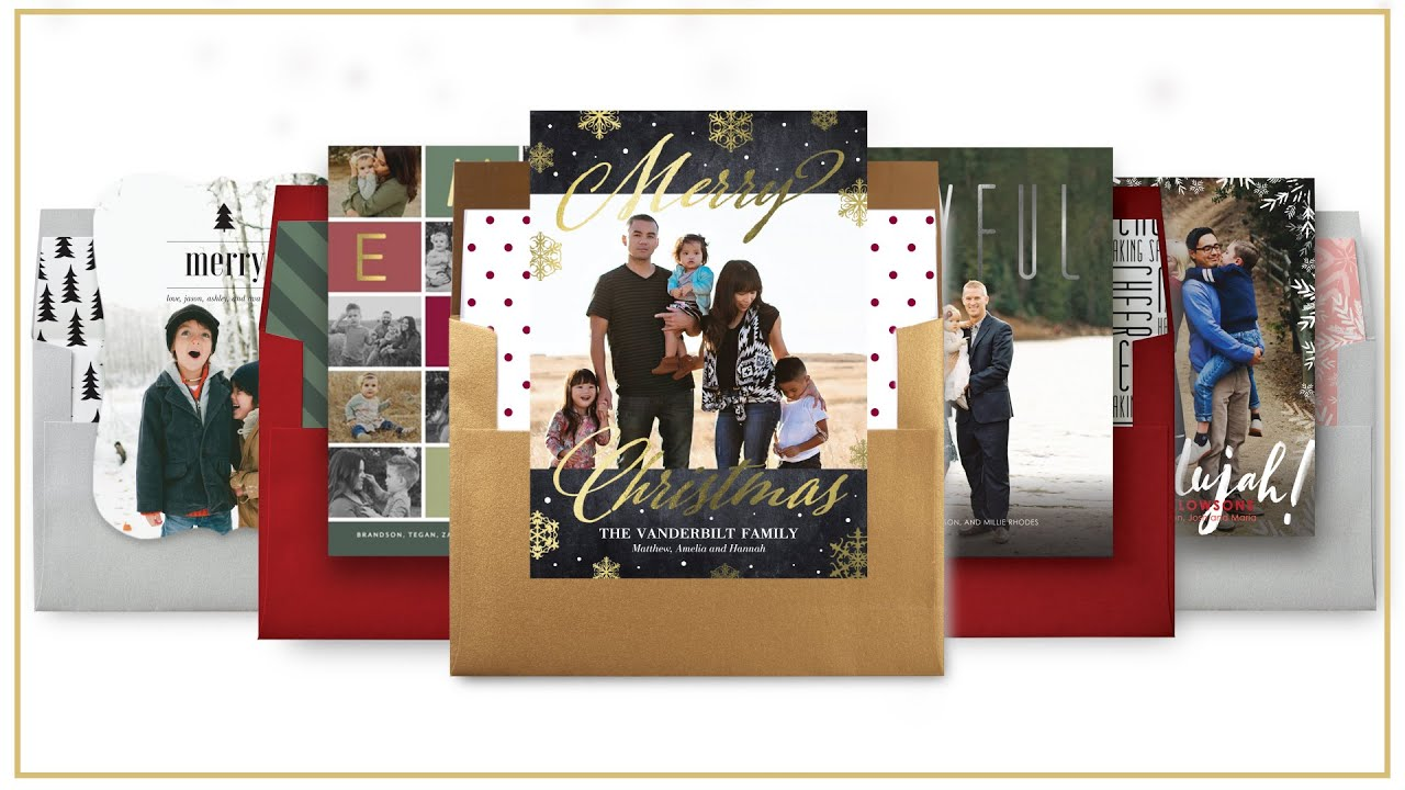 Custom Christmas Card Ideas with Tiny Prints - YouTube